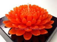handmade flower candles 5 inch art spa deco - chrysanthemum