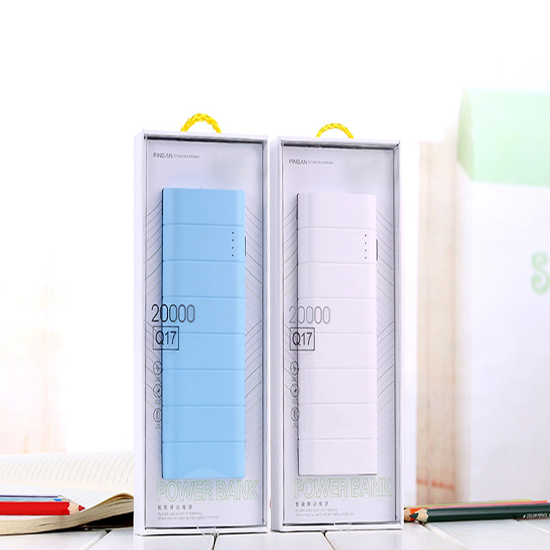 Two USB Ports 20000mah ROHS Power Bank with high quality for all phones