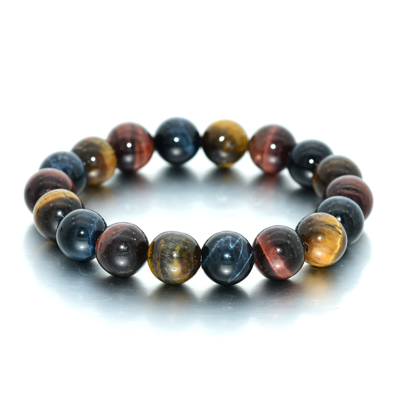 Hot Selling Latest Price 10MM Blue/Yellow/<strong>Red</strong> <strong>Tiger</strong> <strong>Eye</strong> Stone Beads <strong>Bracelet</strong>