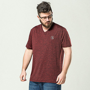 Plus Size Wholesale Mens 6XL Heather burgundy T-shirt (A013)