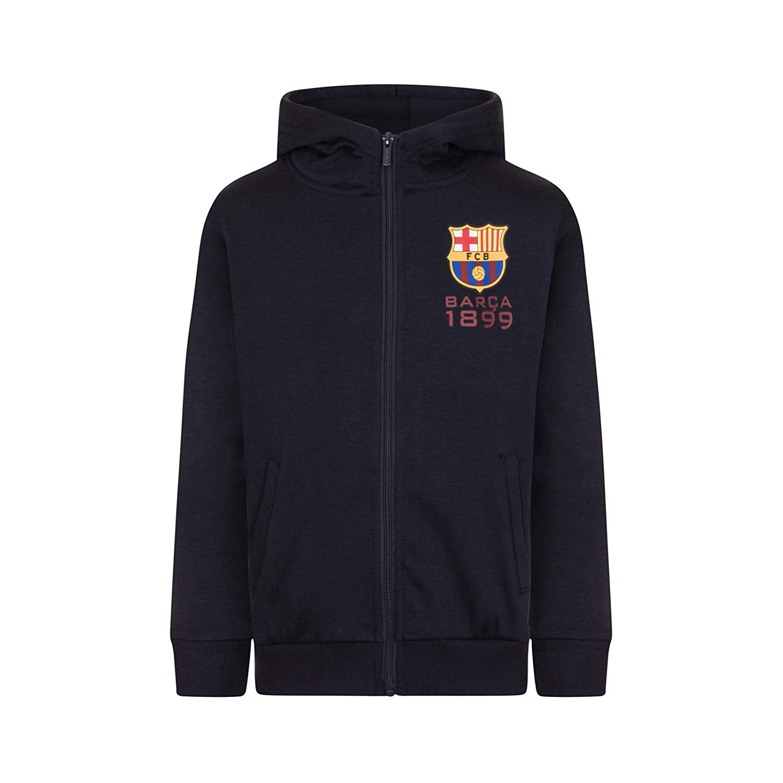 1a0be2be626 Get Quotations · F.C. Barcelona FC Barcelona Official Soccer Gift Boys  Fleece Zip Hoody