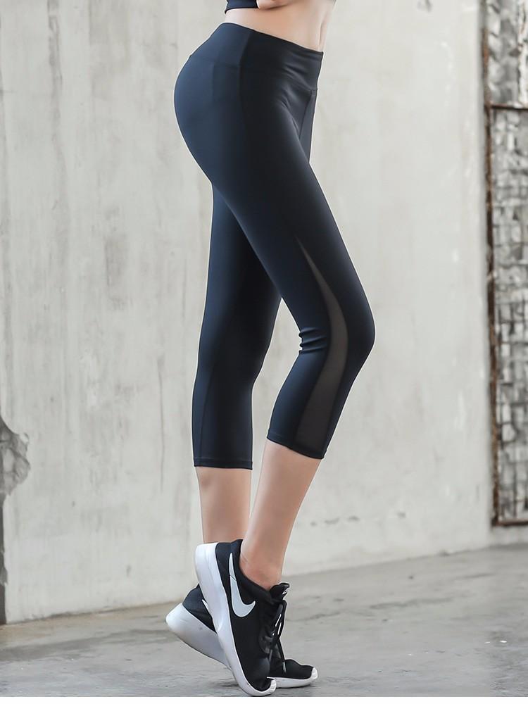 Yoga Pants Capris Mesh 7