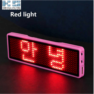 2018 Jingcan Led Name Badge LED Logo Mini LED Display