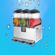 With Italy Compersoor Commercial 3 Tank Frozen Drink Slush Making Machine Smoothie Slushy Maker 45L (ZQR-3X)