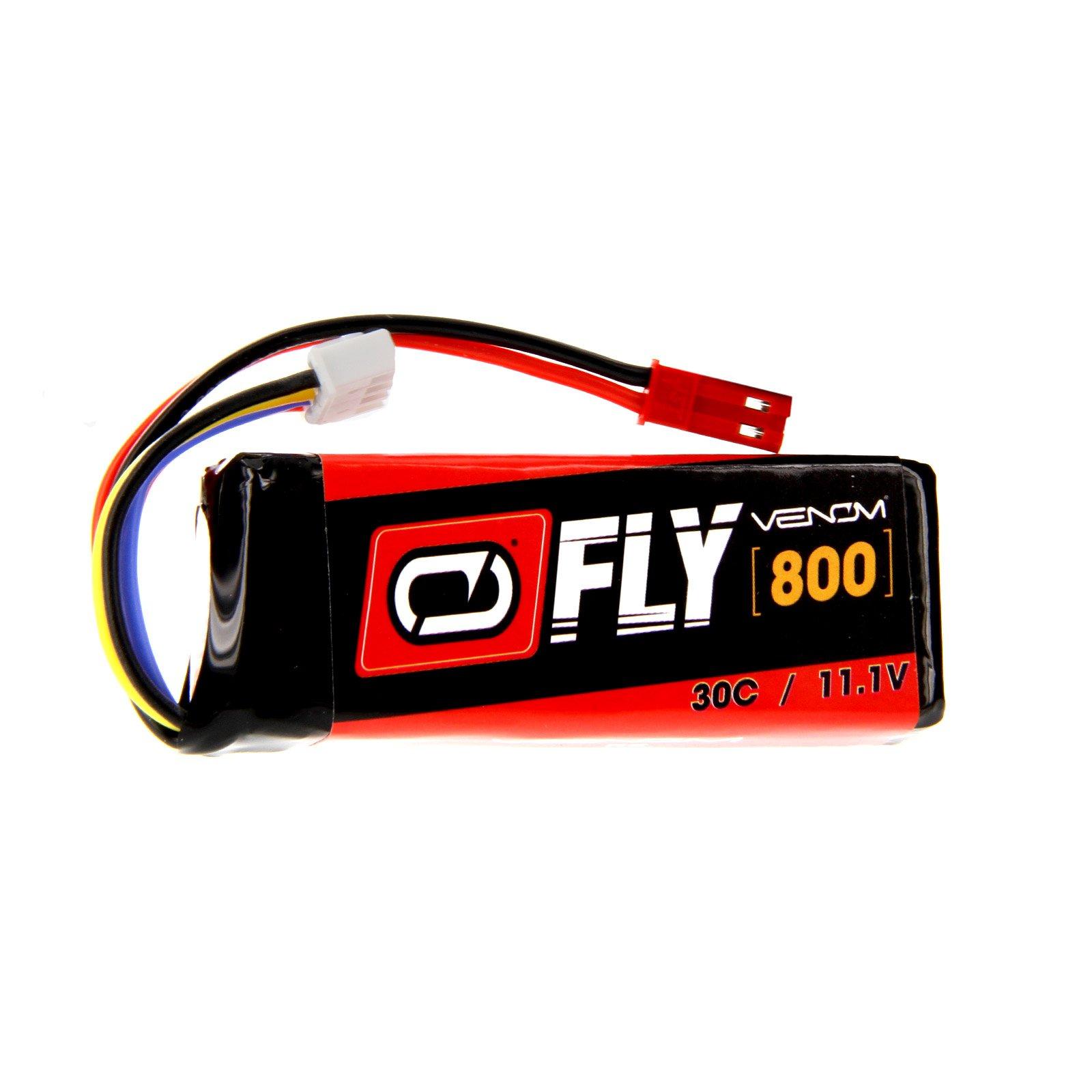 Venom Fly 30C 3S 800mAh 11.1V LiPo Battery with JST Plug - Compare to E-flite EFLB8003SJ30