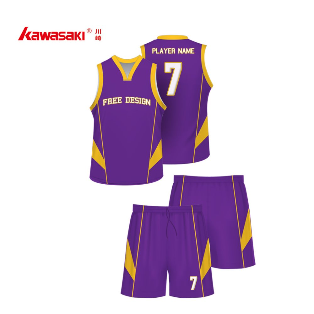 Quality euro sizes XL customized purple basketball tops and shorts mesh