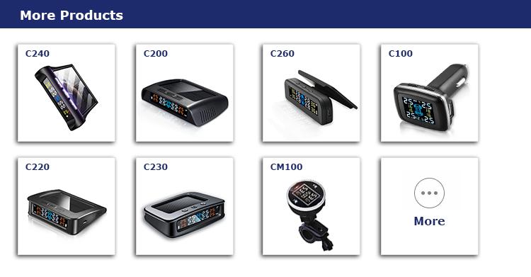 Diy External Car Solar tpms with 4 External SensorsTire Pressure Monitor System