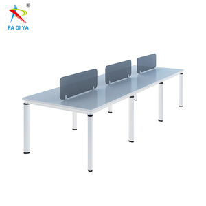 6 Person Low Price Melamine Conference Table For Business Meeting With Oval Tube Leg