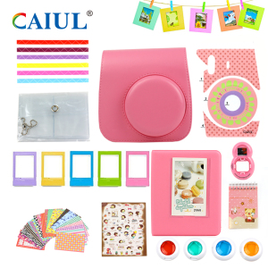 Superior Quality Fuji Instax Mini 8 / Mini 9 Camera Accessaries Leather Handbag Sets