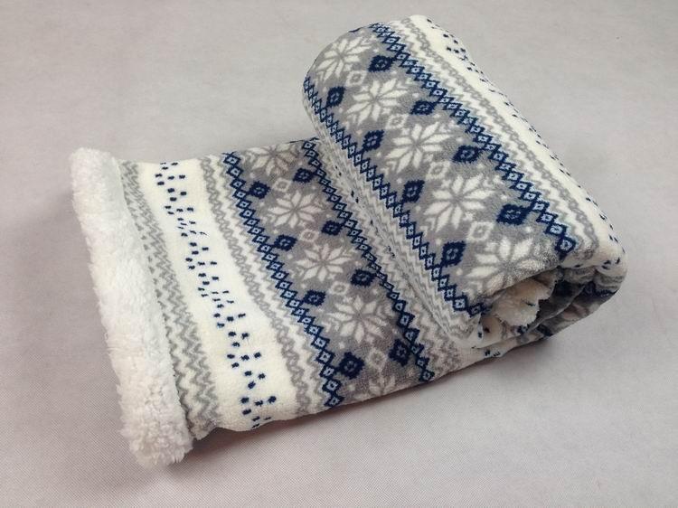 Gcebkt070 Knitted Snowflake Pattern Import Blankets Life Comfort