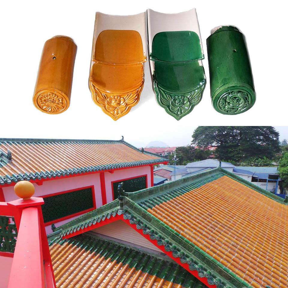 100pcs Chinese Glaze Ceramic Roof Tile