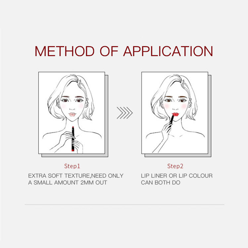 Custom Waterproof Makeup Lip Stick Kiss Proof Long Lasting Lipliner Pen And Lipstick