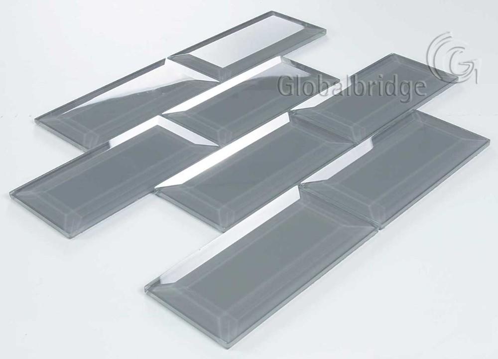 Mode Grau Farbe Küche Wandfliesen Glas Fliesen U Küche Fliesen