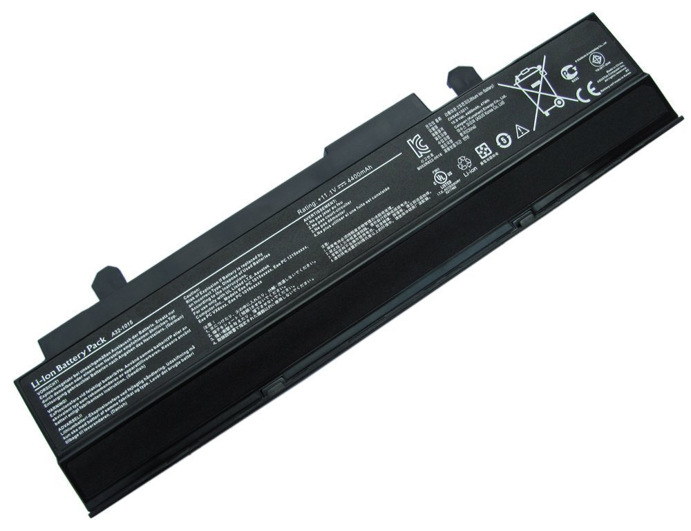 ATC Extended Battery Replacement for Asus Eee PC 1015 Series, Asus Eee PC 1016 Series,Asus Eee PC 1215 Series,Asus Eee PC VX6(6-Cell Equivalent) Replace PN:90-OA001B2400Q, 90-OA001B2600Q, 90-XB29OABT00100Q, A31-1015, A32-1015, AL31-1015, PL32-1015 [10.8V 5200mAh]