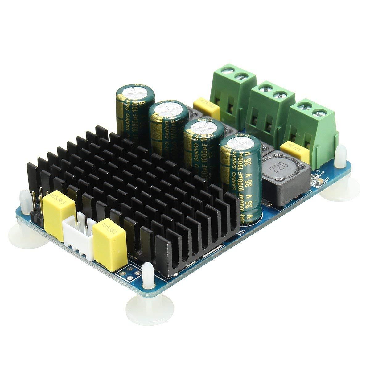 YT Module TDA7498 2 Channel 2x100W DC 8~32V Digital Stereo Power Amplifier Board 4/6/8 ohm