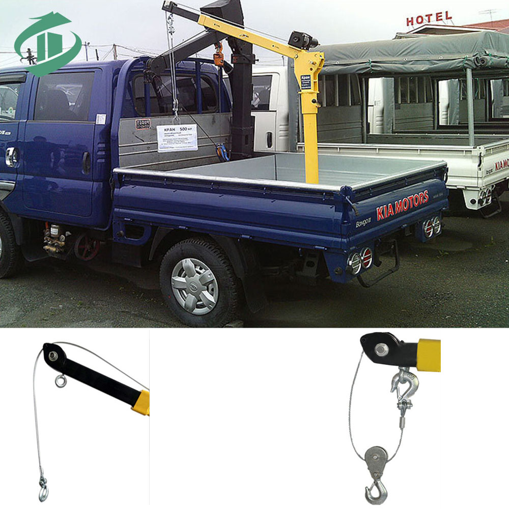 high quality mini crane for pickup truck pick up mounted jib crane