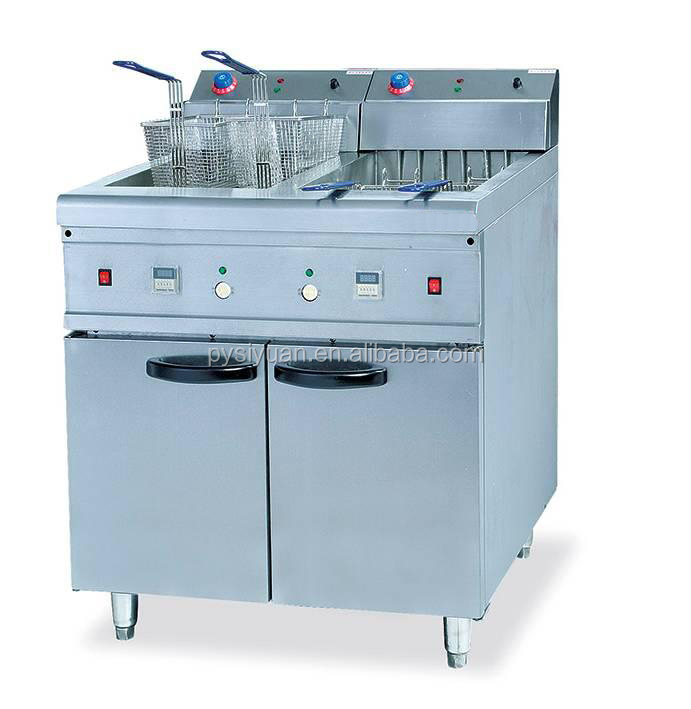 30L capacity Industrial deep fryer/potato chips fryer machine/30L deep commecial gas deep fryers