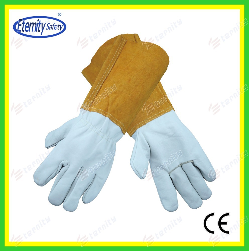 safety equipments 14 Inch Length Cow Split Leather Welding Glove