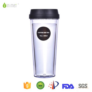 Cheap Chinese Hommization Cheap Double Wall Tumbler Cup Reusable Coffee Mugs Plastic Custom Logo