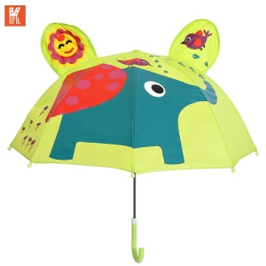 Promotional fashion style Kid umbrella children love creative handle semi-auto cheap child umbrella