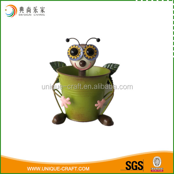 2016 Metal Pot With Bee Face Garden Decoration