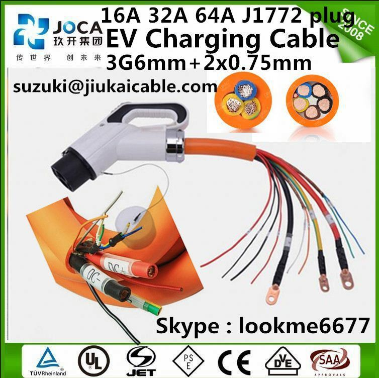 Highly flex electrical cable charger for car water resistance in stock