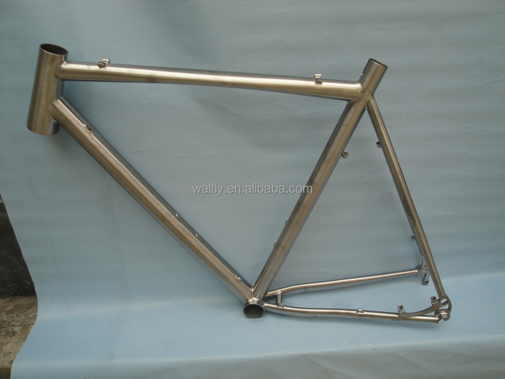 Waltly Oval cross titanium bicycle frame WT--C613M