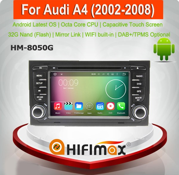 Android 6.0.1 Car DVD GPS for Audi A4 android navigation