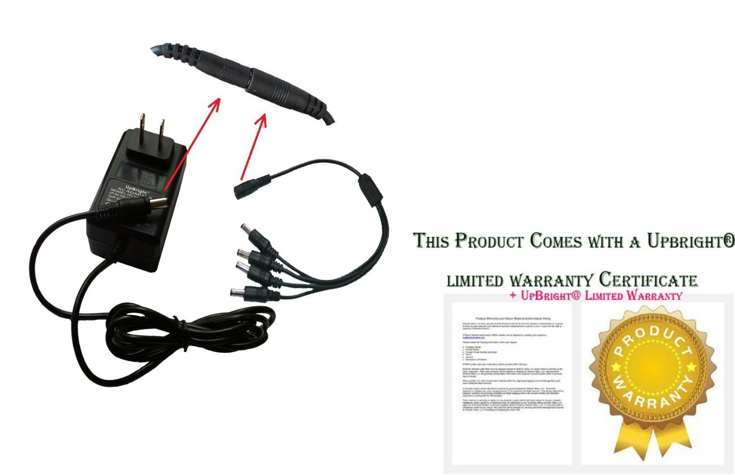 AC Adapter For Q-SEE QSDS4122 QS-POWER4 4-way Splitter Power Supply CCTV Cameras