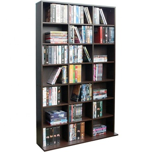 Modern Dark Oak Wooden Bookcase