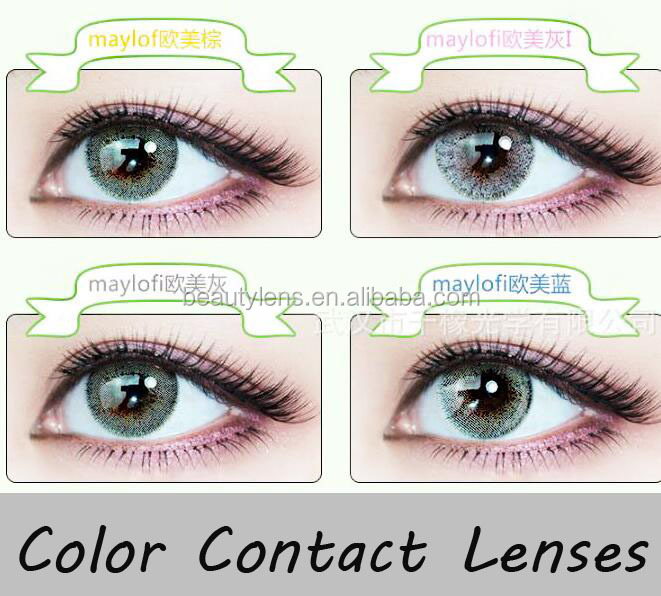 2018 Hot Sale Natural Looking Fancy Contact Lenses Colored Soft Crazy Color Contact Lens