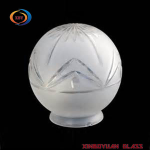 2017 new Globular glass art lampshade,China factory frosted hand blown glass lamp shades