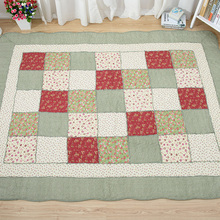 Patchwork Katun Eco Ramah Bayi Play Gym Mat, <span class=keywords><strong>Anti</strong></span> <span class=keywords><strong>Slip</strong></span> Tikar