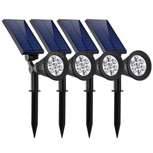 Newest 7LED Outdoor Waterproof Adjustable Solar Stake Spotlight for Garden Landscape Lighting