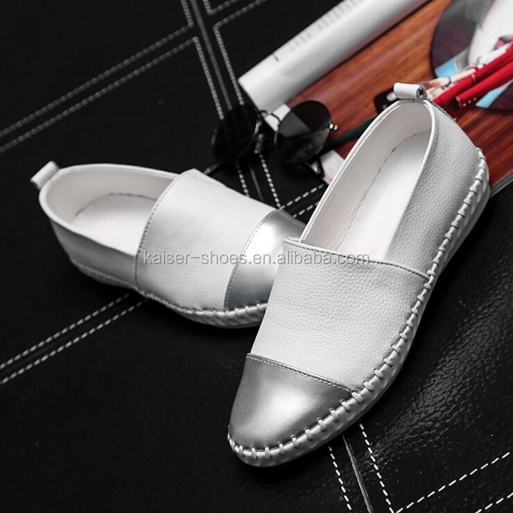 2017 spring new fashion leather loafer shoes women flat shoes