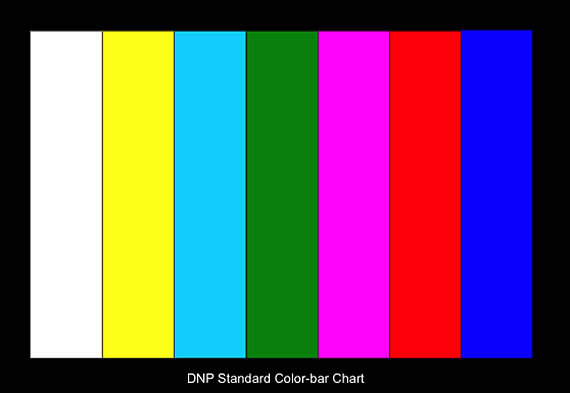 Ye0106 Transparency Color Checker Photography Color Bar Test Chart