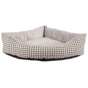puppy product unique triangle plaid pattern pet bed