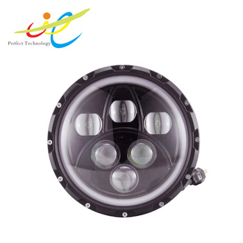Hot sale 7 inch led headlight Hi/lo beam 4D LED projecror headlight For J-eep