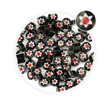 Black Base Red Core Millefiori <span class=keywords><strong>Glas</strong></span>