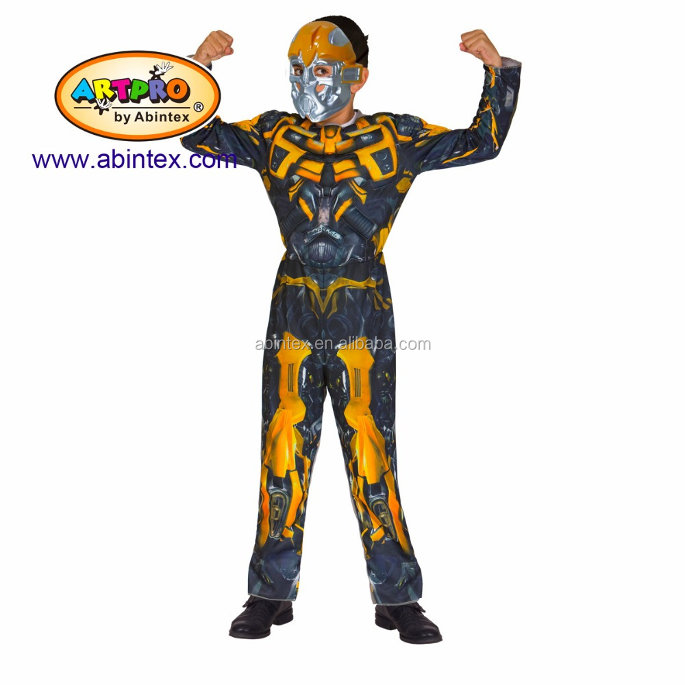 Bumblebee - transformer yellow Costume(12-023) as party costume for boy with ARTPRO brand