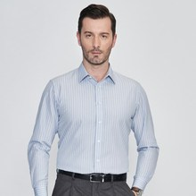 Office dress style slim fit striped 긴 sleeve pant shirt design 대 한 men 100 공식적인 면 shirts
