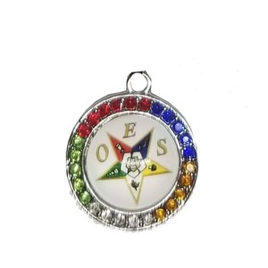 Shrine Mason Order Of The Eastern Star Oes Charm Fit Jewelry  Bracelet Keychain Earring Accessories