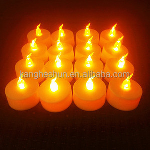 Flickering LED Tea light Flameless Changeable LED Christmas Tree Candle
