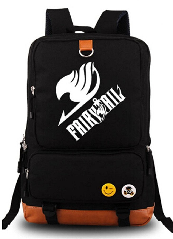 Get Quotations · Siawasey® Fairy Tail Anime Natsu Dragneel Cartoon Cosplay Backpack  School Bag 8bd6570f463ad