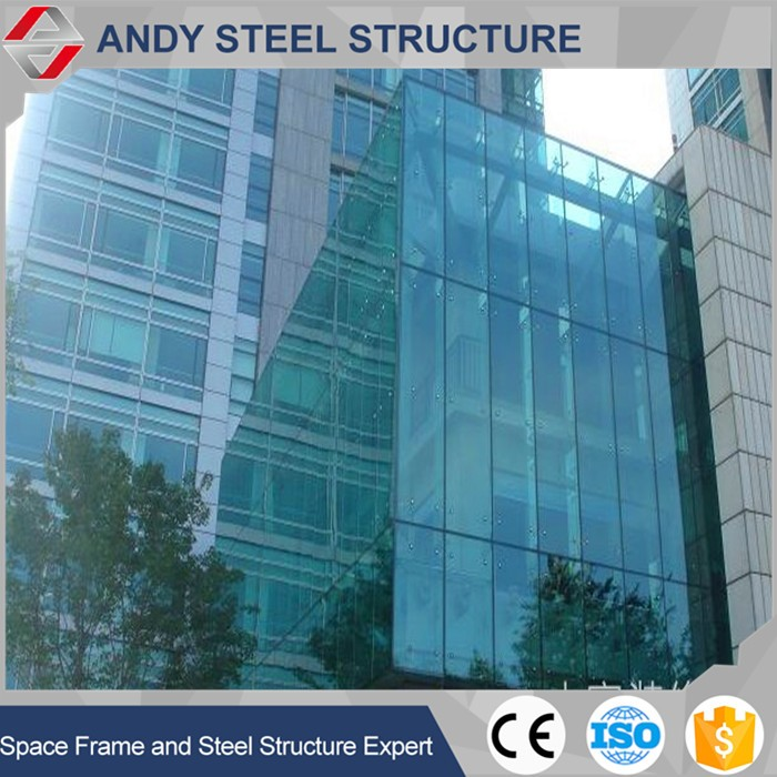 High Quality cheap point- supported frameless glass curtain wall price