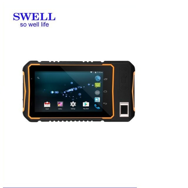 fingerprint sense 2017 7inch Rugged Handheld tablet pc with ip 67 / waterproof 4G for logistic field
