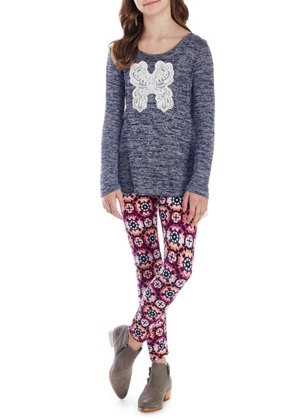 Get Quotations · One Step Up 2-Piece Hacci Tunic and Leggings Set Girls 7-16 6ed78fc79