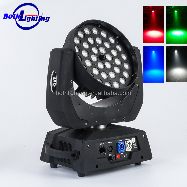 36*10w Rgbw 4in1 Zoom Led Moving Head Wash Light /led Moving Head ...