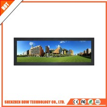 Alibaba express best price RGB Horizontal Stripe digital wall Stretched lcd screen indoor supermarket shelf video display