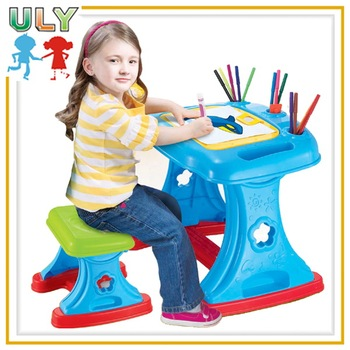 new kids easel game toy projector painting learning desk buy china
